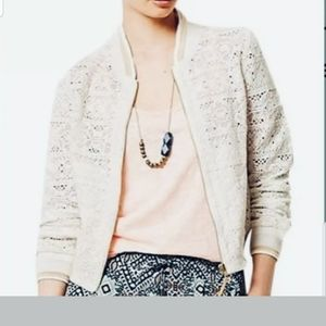 Anthropologie Hei Hei Lace Bomber Jacket sz Small